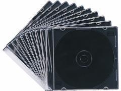 サンワサプライ/DVD・CDプラケース スリムタイプ マットブラック 10枚入