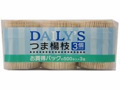 大和物産/デイリーズ楊枝 500本×3個/50617
