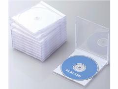 エレコム/Blu-ray  DVD CDケース ホワイト 10枚