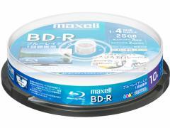 マクセル/録画用BD-R 1回録画25GB 1~4倍速 10枚 スピンドル