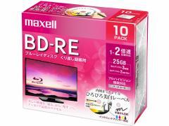 マクセル/録画用BD-RE くり返し録画 25GB 1〜2倍速 10枚