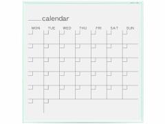 馬印/ホーロー製カレンダーボード 白アルミ枠 610×610mm/MR22W