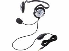 エレコム/4極両耳ネックバンドヘッドセット/HS-NB05TSV