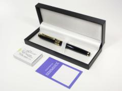 【ハード化粧箱入り】BAOER万年筆の上位モデル 本当に驚く滑らかさ。コンバーター付、インクカートリッジ5本セット付き軸色2色展開。