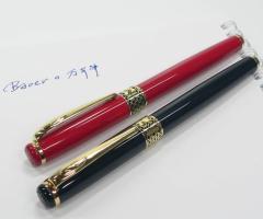 【紙箱入り】BAOER万年筆上位モデル驚く滑らかさ。コンバーター、インクカートリッジ5本セット付き赤と黒の2色展開。