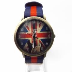当店ベストセラー。英国旗柄の文字盤と英国風のナイロンベルトのファッション時計。