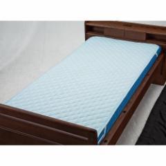 ウェルファン 洗えるベッドパッド(ポリ) ブルー Sショート