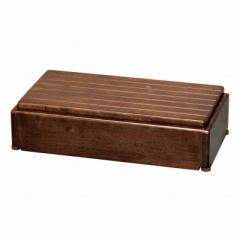 アロン化成 木製玄関台 S60W-30-1段 ブラウン 535574