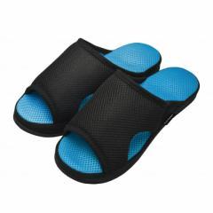 アルファックス 健康ルームサンダルガチ押し メンズ ふみっぱ ブルー 25-27cm AP-508427