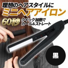 ヘアアイロン ストレート カール 2way ミニサイズ カール 海外でも使用可能 ブラック ピンク ブルー 3色