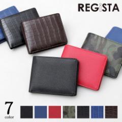 財布 二つ折り メンズ レディース 合皮 サフィアーノ クロコ 柄 迷彩 黒 赤 カード入れ ウォレット セカンドウォレット シンプル 財布 軽