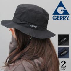 ハット 帽子 GERRY ジェリー アドベンチャーハット レディース 軽量 折り畳み 速乾 アウトドア フェス スポーツ ランニング ブラック ネ
