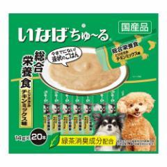 いなば 犬用ちゅ〜る 総合栄養食 とりささみ チキンミックス味 14g×20本