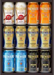 お歳暮 御歳暮 ギフト ビール プレゼント 送料無料 サントリー プレミアムモルツ -華- 冬の限定5種セット YB30P 1セット