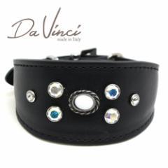 SALE/返品交換不可・Da Vinci カラー Vittoria:黒 DV1.7.30B 小型犬用首輪・首周り実寸:約21〜25cm イタリア製 dv91287