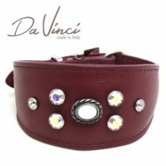 SALE/返品交換不可・Da Vinci カラー Vittoria:ボルドー DV1.7.30BX 小型犬用首輪・首周り実寸:約21〜25cm イタリア製 dv91294