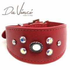 SALE/返品交換不可・Da Vinci カラー Vittoria:赤 DV1.7.30R 小型犬用首輪・首周り実寸:約21〜25cm イタリア製 dv91317