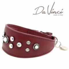 SALE/返品交換不可・Da Vinci カラー Vittoria:ボルドー DV1.7.35BX 小型犬用首輪・首周り実寸:約25〜29cm イタリア製 dv91348