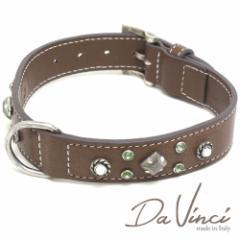 Da Vinci カラー Maddalena:茶 DV17.1.50BR 大型犬用首輪・首周り実寸:約34〜42cm イタリア製 ダ・ヴィンチ dv94752