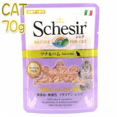 最短賞味2022.10・シシア 猫 パウチ(ツナ&ハム)70g scc586ブロスタイプ 成猫用ウェット一般食キャットフードSchesir正規品