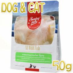 NEW 最短賞味2021.8・サンデーペッツ NZワイルドフィッシュ50g犬猫用フリーズドライおやつsp99741正規品