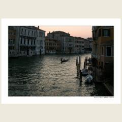 「大運河の夕暮れ。ヴェネツィア」 ショップオープン企画!2Lプリントの2枚組! 4月25日まで、限定20組の販売。