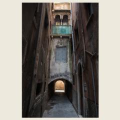 「ヴェネツィアの路地/Vicolo a Venezia」 限定制作プリント(A4・額装) (エディションナンバー付き)