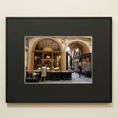 「パサージュの古書店(ジュソーム書店/Librairie Jousseaume)#01」 限定制作プリント (A4・額装)(エディションナンバー付き)