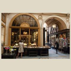 「パサージュの古書店(ジュソーム書店/Librairie Jousseaume)#01」 限定制作プリント (A4プリントのみ/額なし)(EDナンバー付き)