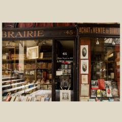 「パサージュの古書店(ジュソーム書店/Librairie Jousseaume)#02」 限定制作プリント (A4プリントのみ/額なし)(EDナンバー付き)