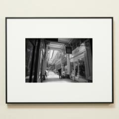 「パサージュ・ヴェルドゥの午後。パリ9区。 / PASSAGE VERDEAU」 限定制作プリント (A4・額装)(エディションナンバー付き)