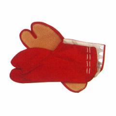 カラー祭足袋 赤 22〜26cm =お祭り用 薄ゴム底 まつりタビ 大祭 祭禮 イベント=