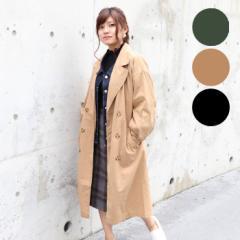 【送料無料】コート アウター ロング丈 レディース ダブル 洋服 ライトアウター ベルト サンゴ sango NOFALL