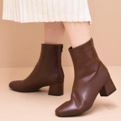 バックジップショートブーツ 靴 レディース ショートブーツ ブーツ スクエアトゥ トレンド ジッパー 黒 歩きやすい ブラック ベージュ ブ