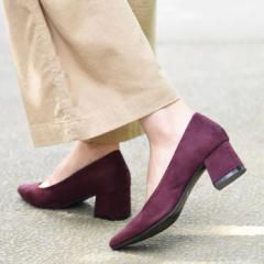 【送料無料】靴 レディース パンプス シンプル チャンキーヒール 大人っぽい 履きやすい アーモンドトゥ ブラック ベージュ グレー 黒 秋