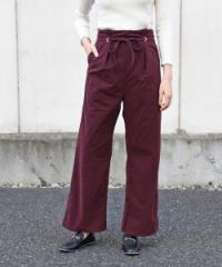 レディース 洋服 カジュアル シンプル ベーシック かわいい 大人 ボトム キャメル ボルドー ブラック カーキ ハイウエスト 韓国ファッシ