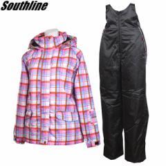 SOUTHLINE(サウスライン) スキーウェア レディース 上下セット スノーウェア SLL6751
