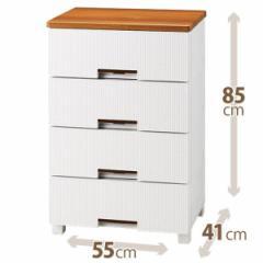 天馬フィッツプラスメッシュ FM5504 ホワイト 衣装ケース 収納ケース チェスト 幅55×奥行41×高さ