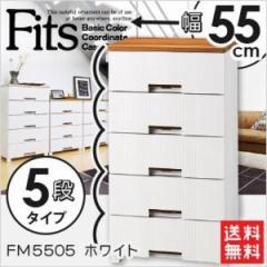 天馬フィッツプラスメッシュ FM5505 ホワイト 衣装ケース 収納ケース チェスト 幅55×奥行41×高
