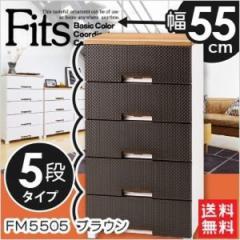 天馬フィッツプラスメッシュ FM5505 ブラウン 衣装ケース 収納ケース チェスト 幅55×奥行41×高