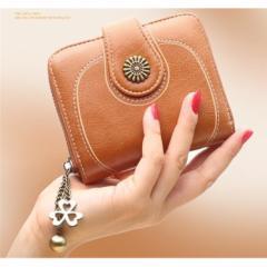 二つ折り 財布 折りたたみ財布 かわいい 花 レディース財布 プレゼント
