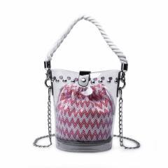 レディースクリアバッグ ショルダーバッグ 透明バッグ トートバッグ ポシェット 巾着 スパンコール 斜め掛け 肩掛け 手提げ ミニバッ