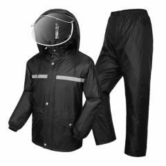レインウェア 防水レインコート 上下セット レインスーツ 着脱式合羽 男女兼用 軽量 快適 アウトドア 釣り 自転車 バイク 通学 通勤