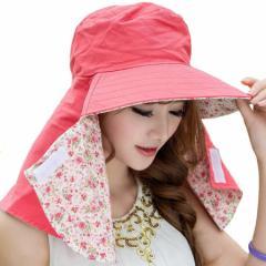 日よけ帽子 レディース 日焼け防止 アウトドア 日よけカバー  紫外線対策 リバーシブル 綿