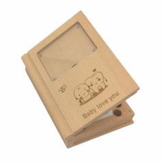 乳歯ケース赤ちゃん用 木製 トゥースボックス 写真入れ乳歯ボックス、子供の歯収納袋 お生産祝い成長記録 思い出を記録 子供の誕生日プレ