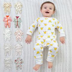 可愛いプリントカバーオール ベビー服 ジュニア ロンパース 前開き カジュアル 新生児 出産祝い プレゼント10色選べる 2枚セット