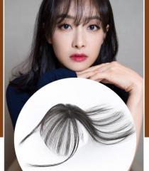 YQ-01054 ウィッグ 前髪ウィッグ 人毛 手植え 3D構造つむじ付きシースルーバング つけ毛 エクステ ワンタッチ自然 増毛