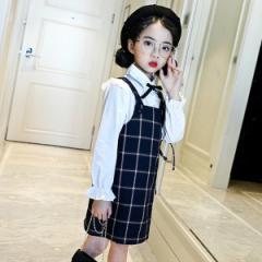 06370bae5cf77 韓国子供服 フォーマル トップス ジャンパースカート 発表会 キッズ 女の子 春秋冬 120 130 140
