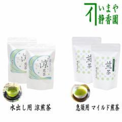 【日本茶/緑茶 ティーバッグ】 お試しセット 水出し用ティーバッグ 涼煎茶又は急須用ティーバッグ マイルド煎茶 各2袋セット 上林