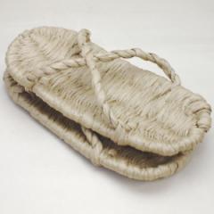 【日用品/雑貨 草鞋(わらじ)(わら草履の代用)】 洗える紙製品 エコ紙草履(ぞうり) サンダル 1足〜 露地草履に